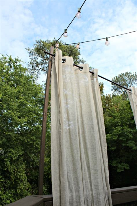 diy floating outdoor curtains southern state of mind