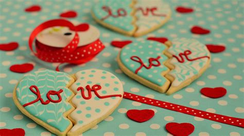wallpaper valentines day cookies heart love food
