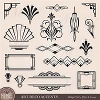 art deco design Digital Clipart ART DECO Design Elements Frames / Borders