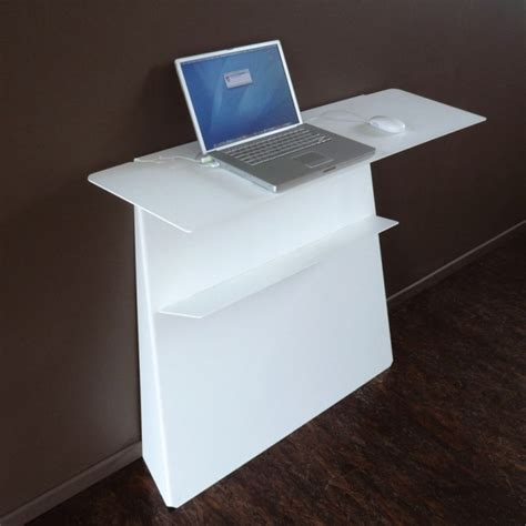 bureau pour pc portable console bureau d 39 appoint en acier zeta studio manzano