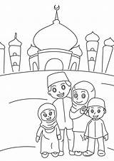 Coloring Pages Kaba Islamic Printable Ramadan Getcolorings Activities sketch template