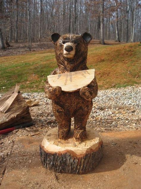 hand crafted rustic chainsaw bears  sleepy hollow art