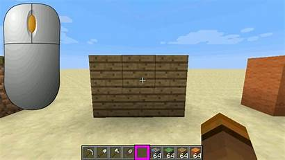 Minecraft Button Block Wood Middle Pick Dirt