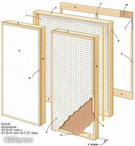 DIY Plans Folding Pegboard Cabinet Plans PDF Download Fine