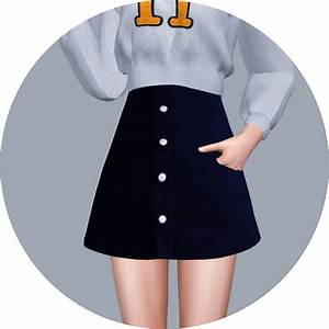 SIMS4 Marigold: High Waist A-Line Skirt • Sims 4 Downloads