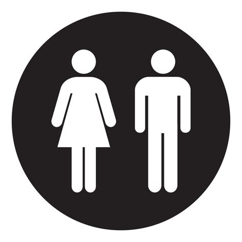 male female circular vinyl toilet sign 1 99 blunt one affordable bespoke vinyl signs and