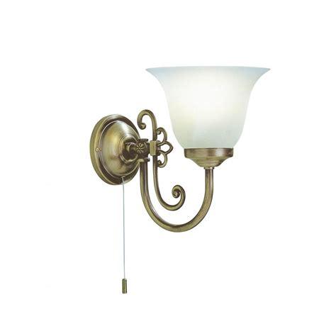 woo0785 woodstock single wall light antique brass