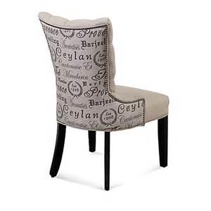 buy bassett mirror company fortnum linen tufted nailhead parsons dining chair in script print