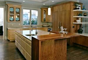 Pastore™ Waterfall Wood Countertops and Butcher Block Tables