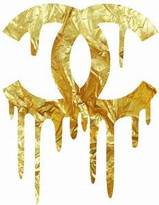 chanel - dripping - gold - logo | TYPOGRAPHY - GRAPHIC ...