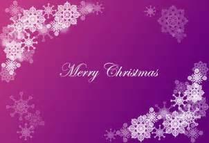 Purple Christmas Snow Flakes