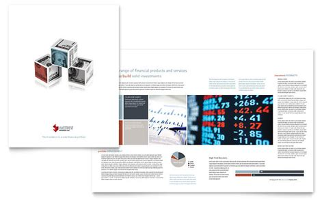 Brochure Template For Mac by Investment Bank Brochure Template Design