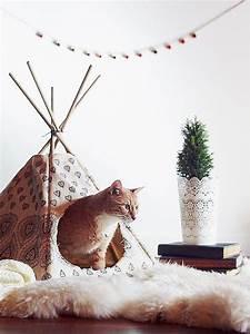 Tipi Pour Chat : 10 projets diy que votre chat va adorer ~ Teatrodelosmanantiales.com Idées de Décoration