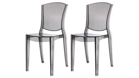 chaise plexi transparente lot de 2 chaises design empilables transparentes en polycarbonate lotsu mobilier moss