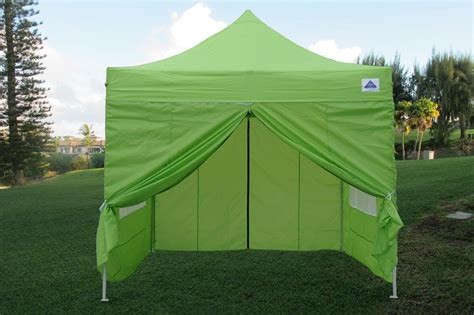 easy up canopy tent 10 x 10 easy pop up tent canopy w 4 sidewalls 12 colors