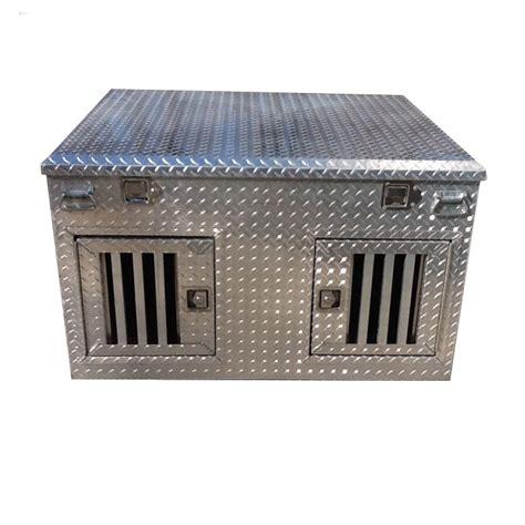 diamond plate aluminum dog box  top storage high durability