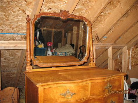 i a birdseye maple vanity and a large dresser with two my antique furniture collection