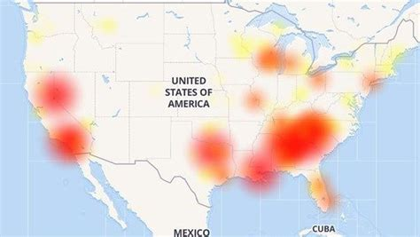 charter spectrum experiencing outages  southeast