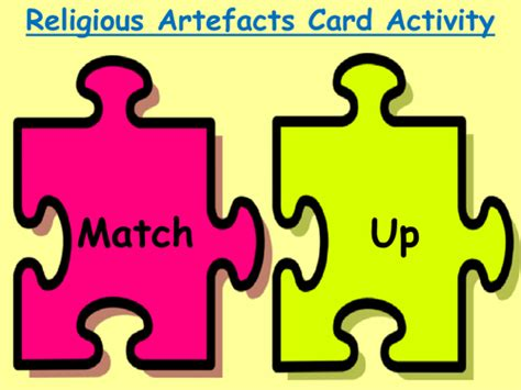 Match Up Cards Activity On Religious Artefacts By Faithleeshope  Teaching Resources Tes