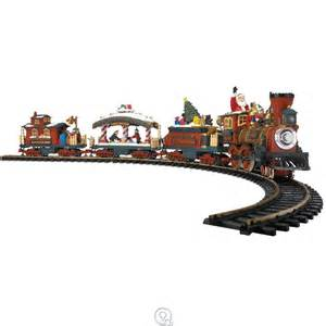 the animated christmas train set holiday express new bright lights sounds