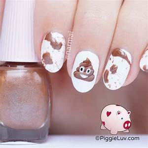 Emoji nail art tutorial : Pin tutorial nail designs in minutes dreamcatcher bow