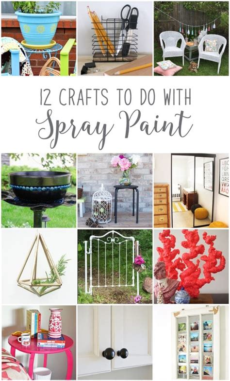 spray painting ideas upcycling outdoor decor