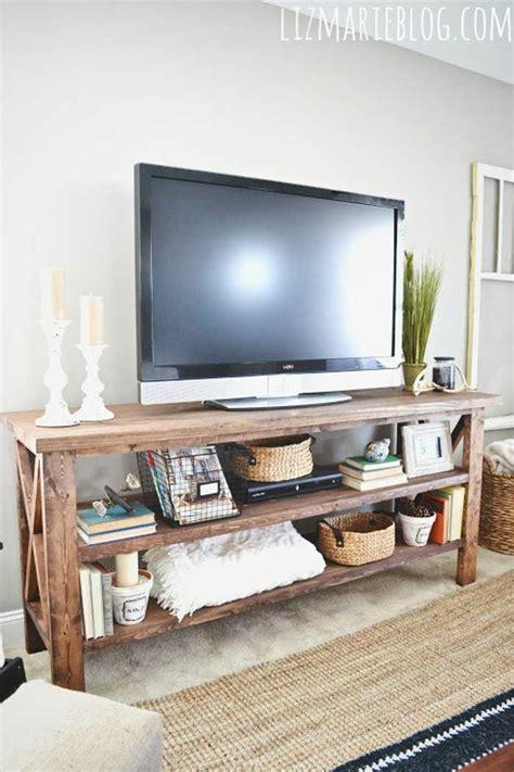 tv console decorating ideas 50 creative diy tv stand ideas for your room interior diy design decor