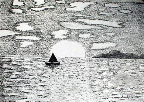 drifting pencil drawing  sandy wager absoluteartscom