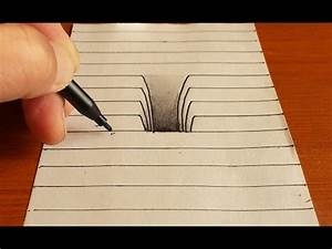 Photos: 3d Hole Drawings On Paper Step By Step, - DRAWING ...