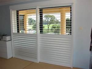 decorate bathroom with sliding door shutters With bypass shutter doors