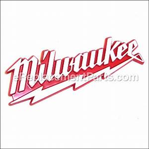 Milwaukee Logo - Molded [31-01-1080] for Milwaukee Power ...