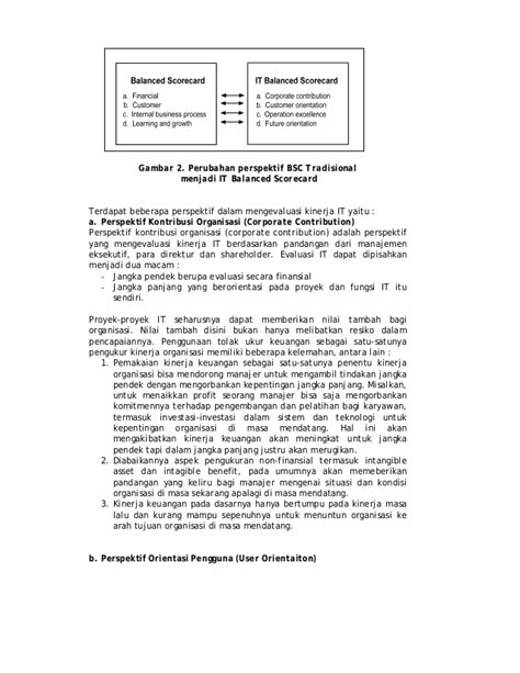 Jurnal analisis model it menggunakan balanced scorecard