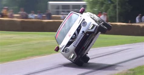 Watch Stunt Driver Set A World Record For Driving Car On