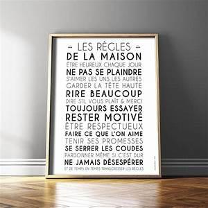 Regle De La Maison A Imprimer : r gles de vie pour la famille ~ Dode.kayakingforconservation.com Idées de Décoration