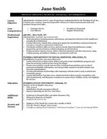 Resume Template Free Resume Sles Writing Guides For All
