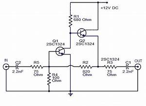 Wiring Schematic Diagram  Cable Tv Amplifier With 2 Transistors