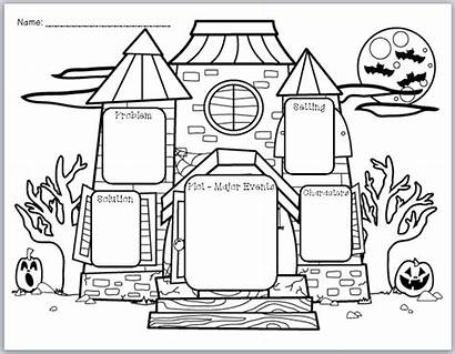 Organizer Graphic Story Elements Halloween Haunted Writing
