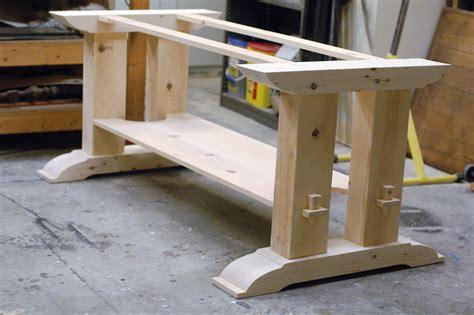trestle table woodworking plans trestle table base fcf furniture trestle table plans