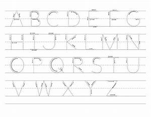 abc tracer pages kiddo shelter With alphabet letters to trace and write