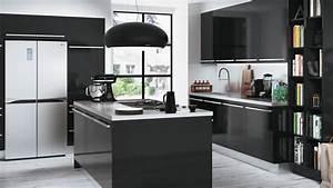 Quelle couleur accorder avec une cuisine noire for Idee deco cuisine avec cuisine moderne grise et noire