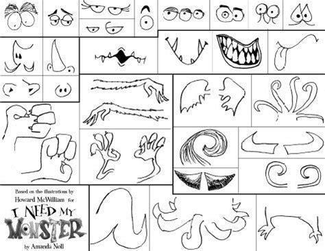 monster parts worksheets bing images monster