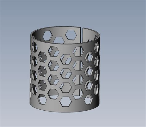 draw  honeycomb design   cylinder surface