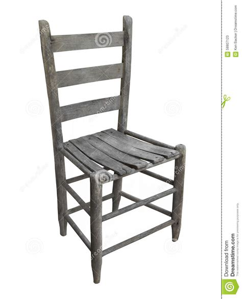 chaises rustiques rustic wooden chair isolated stock photo image