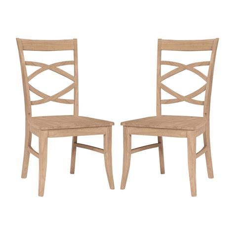 international concepts unfinished wood side chair