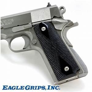 Colt 1911 Black Polymer Checkered Grips