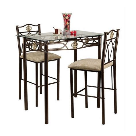 Small Kitchen Table And Chairs Counter Height Bistro Set