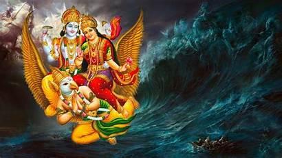 Vishnu Laxmi Gods Garuda Hindu Goddesses Lord