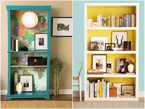 Bookshelves : Temporary Fabric Wallpaper Tutorial