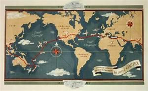 Affiche Carte Du Monde : affiche planisph re voyage a rien autour du monde circa ~ Dailycaller-alerts.com Idées de Décoration