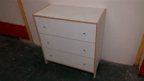 Mdf Chest Of 3 Drawers White 80x40x83 Used Furniture